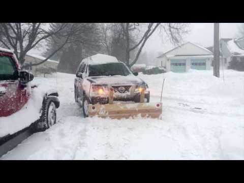 Nissan Xterra DIY front hitch snow plow part 1