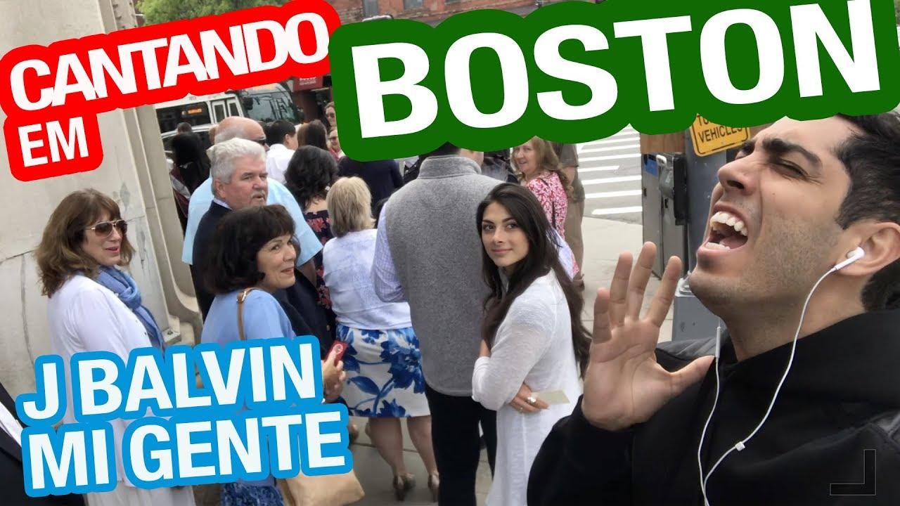 Cantando em BOSTON - J Balvin