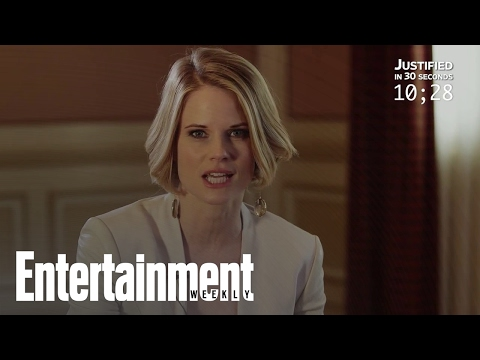 Joelle Carter Recaps 'Justified' In 30 Seconds  Entertainment Weekly
