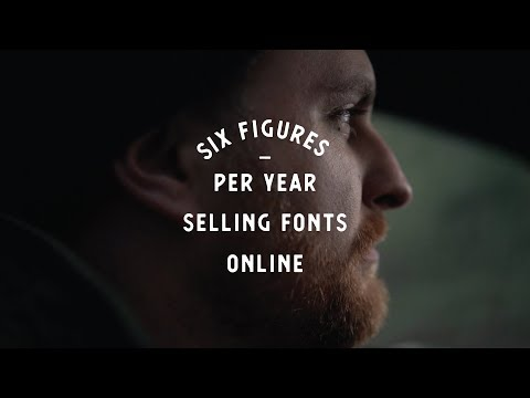 How I make Six-Figures annually selling fonts on Creative Ma