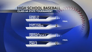 Round one of the TSSAA state tournament for spring sports teams in NE Tennessee