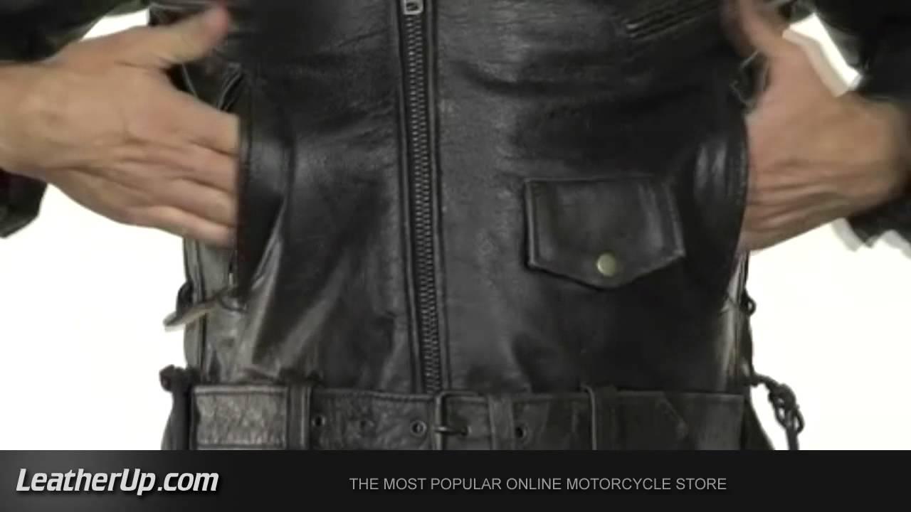 B7104 Xelement Men S Brown Premium Buffalo Distressed Biker Jacket