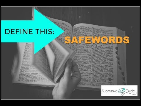 Define This: Safewords | BDSM Terms and Jargon Explained