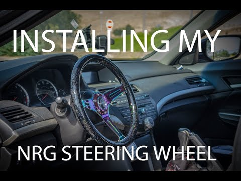 Installing my NRG steering wheel for my 8th gen accord!!