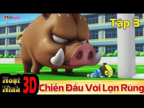 Phim Hoạt Hình Hay Nhất 2018 - Binh Đoàn Người Máy T-Buster - ĐẤU VỚI LƠN RỪNG - Phim Hoạt Hình 3D