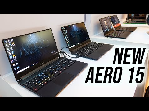 New Aero 15 Laptop! Gigabyte at CES 2019