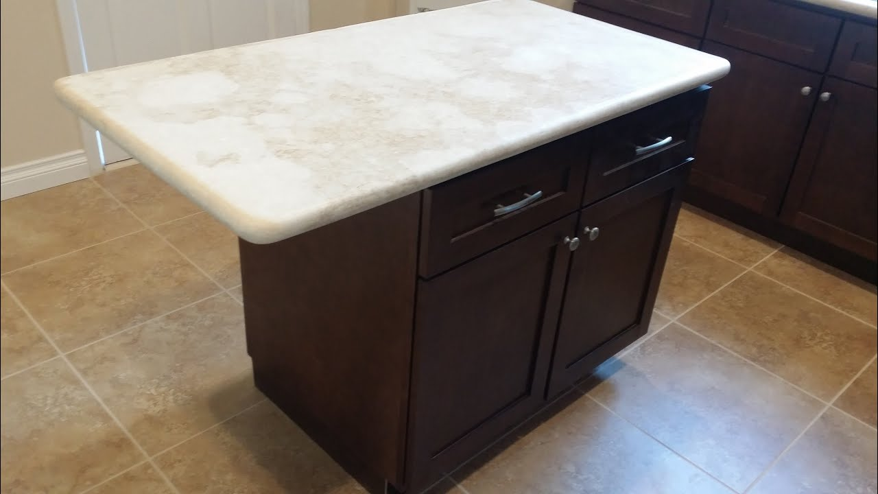 Kitchen Island Installation - QUICK AND EASY - DIY - YouTube