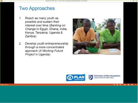 Working with Out of School Youth through Savings Groups for Economic Empowerment
