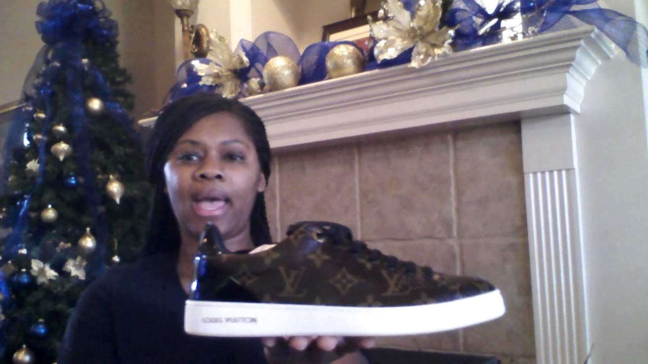 Louis vuitton frontrow sneakers - YouTube