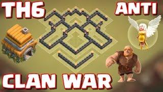 6.Seviye Köy Binası - Klan Savaşı Düzeni - Anti Dev ve Şifacı - Clash of Clans (th6 clan war base)
