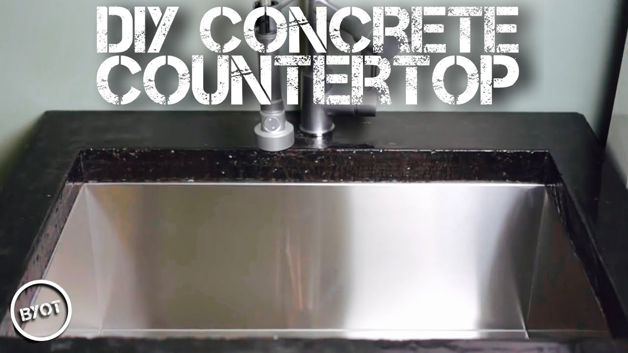 Concrete And Epoxy Countertop