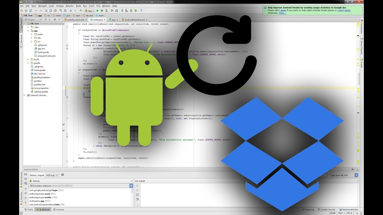 Android java tutorial auto update your app with the dropbox api android java tutorial auto update your app with the dropbox api baditri Image collections