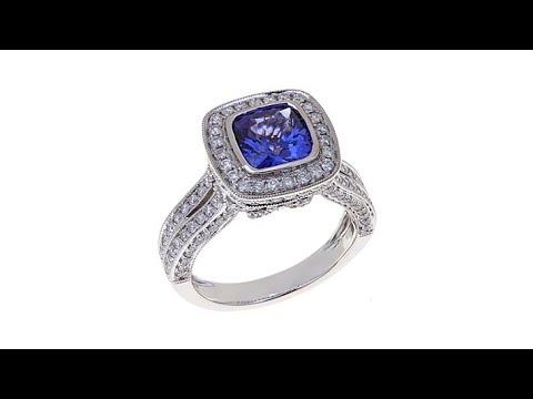 Rarities 2.17ctw Tanzanite and Diamond 14K Gold Ring. https://pixlypro.com/5YVIlLn