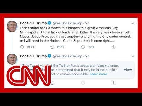 Twitter labels Trump tweet, says it violates platform's rules