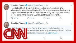 Twitter labels Trump tweet, says it violates platform's rules