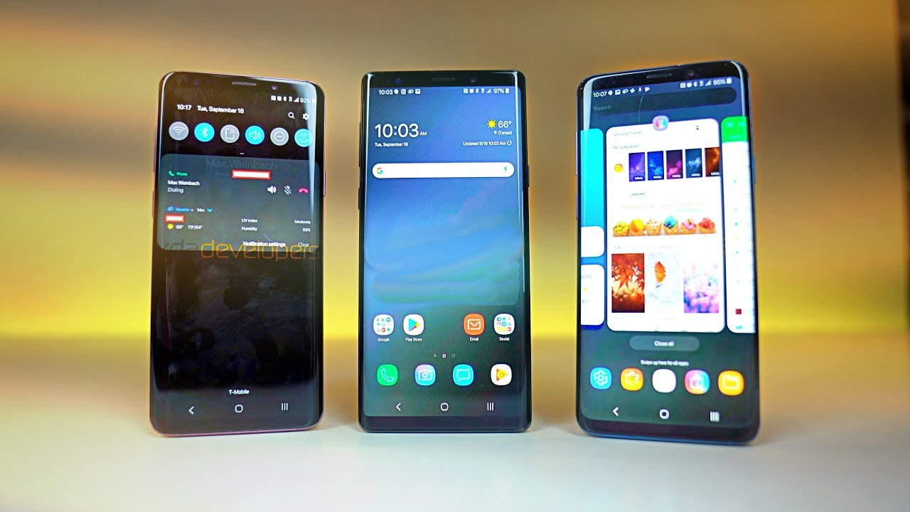 """Samsung Experience 10.0 OFFICIAL """"ONE UI"""" Android 9.0 Pie ..."""