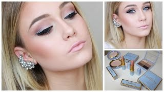 silver glitter and black eyeliner makeup tutorial using mac cinderella collection