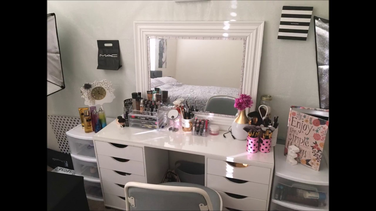 Diy Vanity Ikea Dupe With Lights Youtube