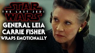 Star Wars The Last Jedi - General Leia Wraps Emotionally (Carrie Fisher)