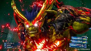 Final Fantasy VII Remake - NEW Gameplay Aps Boss Fight & Ifrit Summon (TGS 2019)