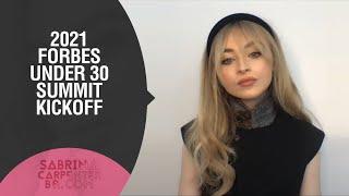 2021 Forbes Under 30 Summit Kickoff - Sabrina Carpenter, Madeline Berg e Jarrid Tingle
