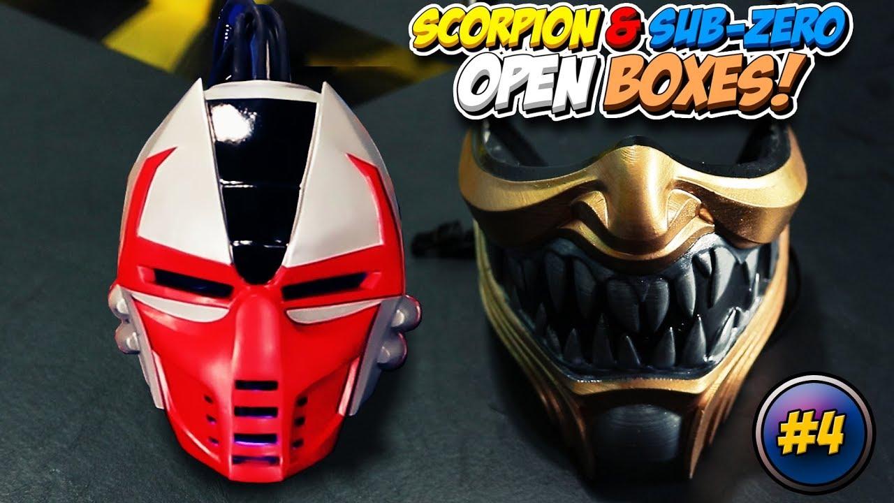 Scorpion And Sub Zero Open Boxes 4 Diy Hanzo Face Mask Sektor