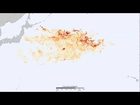 Tohoku Tsunami Debris Tracking (2011-2012) [720p] [3D converted]