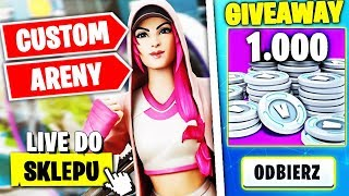 CUSTOMY LATE / SOLO ARENY * WBIJAMY CHAMPIONA *  W FORTNITE | hajTv - Na żywo