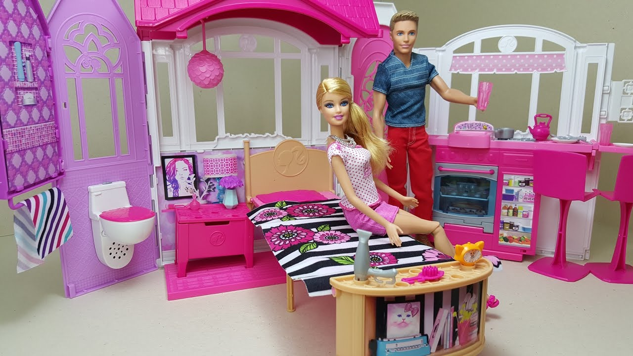 Barbie nova casa de f rias youtube - Casa de barbie ...