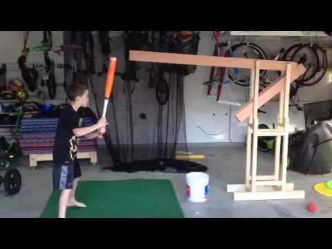 DIY soft toss machine