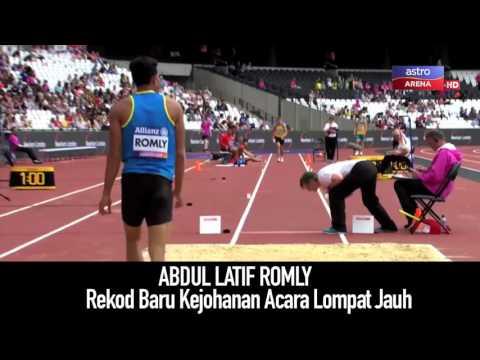 Latif Romly cipta rekod baru kejohanan acara lompat jauh | Astro Arena