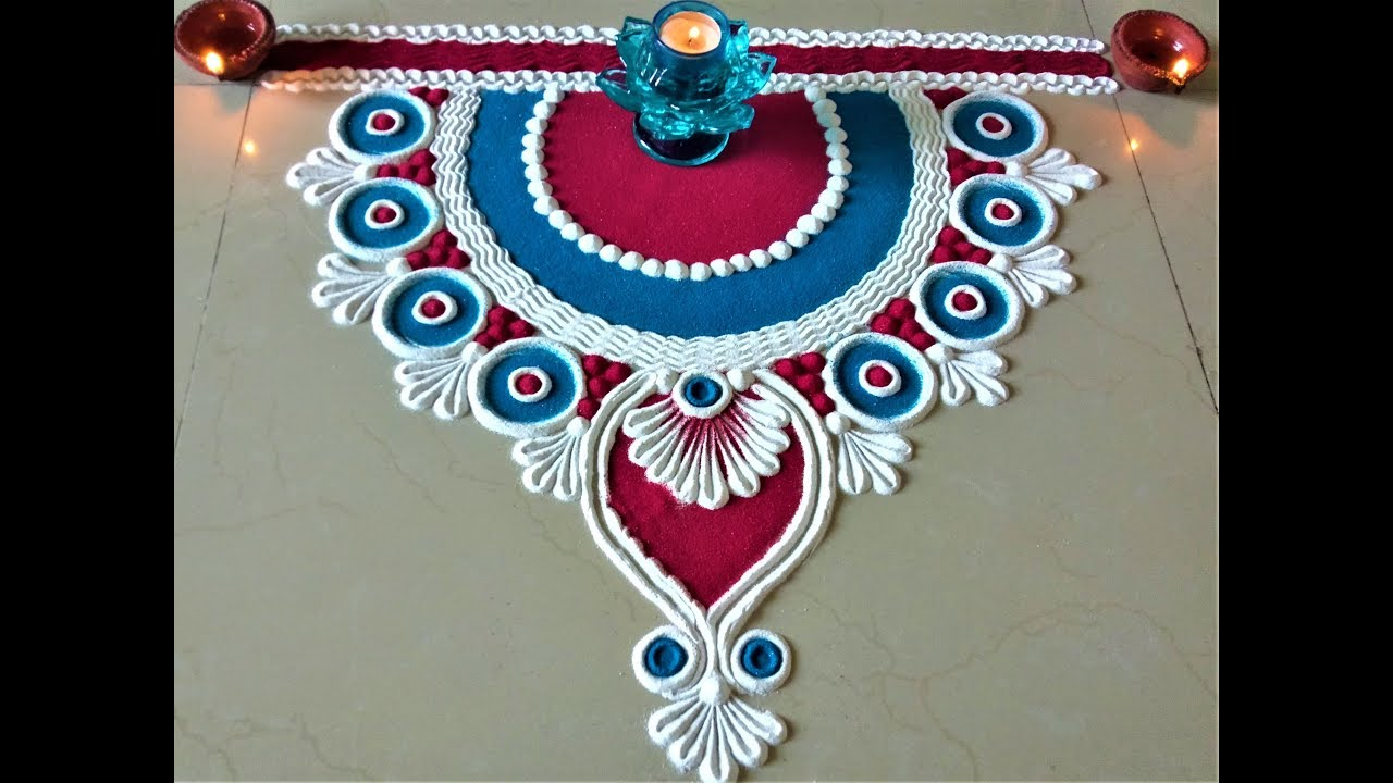 Very Simple And Easy Rangoli Designs