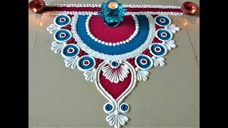 Very Simple and Easy Rangoli Designs for Deepawali |Creative Rangoli by Shital Mahajan.