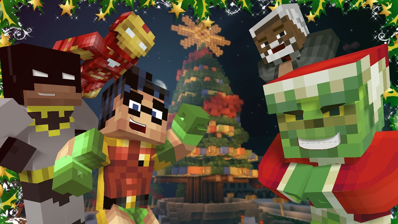 Minecraft Batman And Robin Christmas Challenge W The