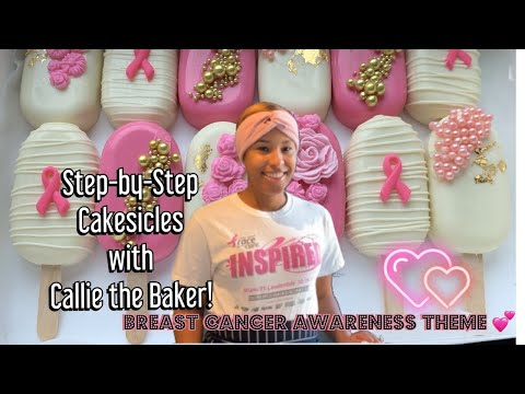 Step-by-Step Cakesicles: Breast Cancer Awareness Theme💕