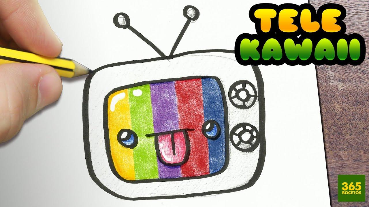 Como Dibujar Libreta Kawaii Paso A Paso: Como Dibujar Una Muneca Kawaii Como Dibujar Tv Kawaii Paso