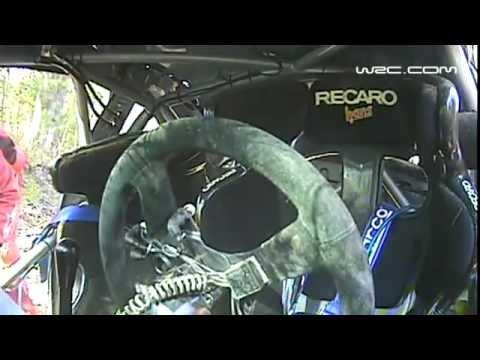 Novikov Huge Crash Onboard WRC Rally Australia 2011
