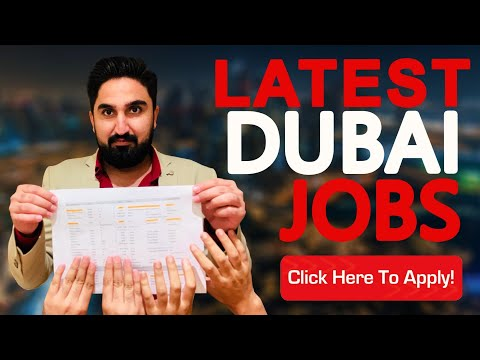 DUBAI JOBS LATEST VACANCIES !!!