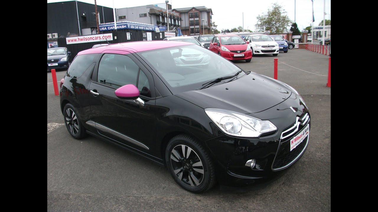 Citroen Ds3 Black With Pink Roof Youtube