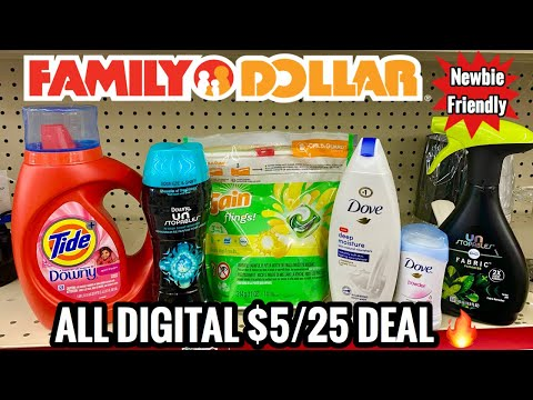 EASY ALL DIGITAL $5 Off $25 DEAL 🔥 | New Family Dollar Coupon 🙌🏽  | Cheap Dove |  10/11 - 10/17