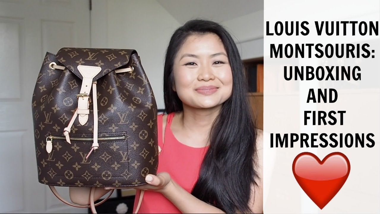 839c941c40 LOUIS VUITTON MONTSOURIS BACKPACK UNBOXING AND FIRST IMPRESSIONS ...