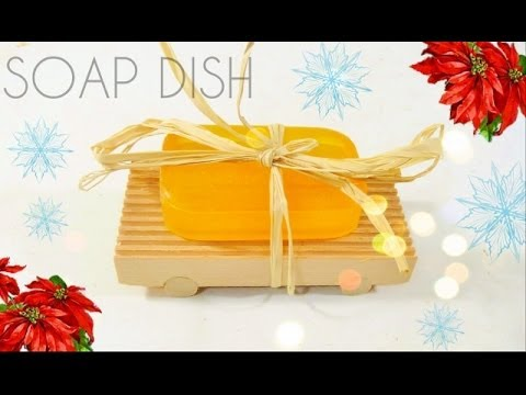 Make a cedar soap dish