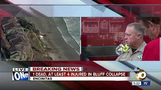 Officials give update on deadly Encinitas cliff collapse
