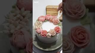 꽃두송이로 케이크 분위기 바꾸기! 케이크 데코 수정 #…