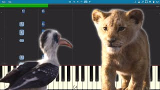 I Just Can't Wait To Be King - Piano Tutorial - The Lion King 2019