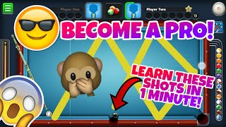 8 Ball Pool - HOW TO BECOME A PRO AT 8BP!! - Learn 8BP Trickshots in 1 Min! - Rome/Berlin Gameplay