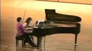 小栗克裕 (Katsuhiro Oguri) :ピアノ連弾のための「3つのメロディー」 (Trois Melodies pour piano a 4 Mains) より1曲目「舟歌」(Barcarolle) 前川恵 検索動画 27