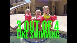 QUADRUPLETS SWIMMING LESSONS