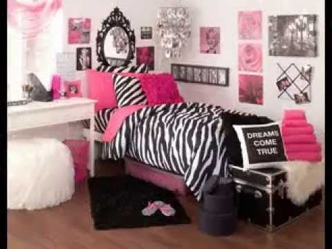 Pink black and white bedroom decorating ideas - YouTube