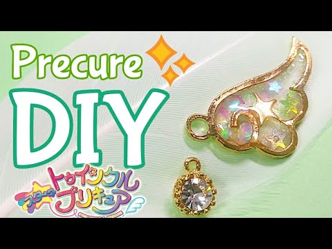 [Resin Art] DIY Star Twinkle Precure Transformation! Star Color Pen Wing Charm🌟✨ | Watch me Resin